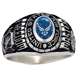 U.S. Air Force Ladies Freedom Ring - Oval Top